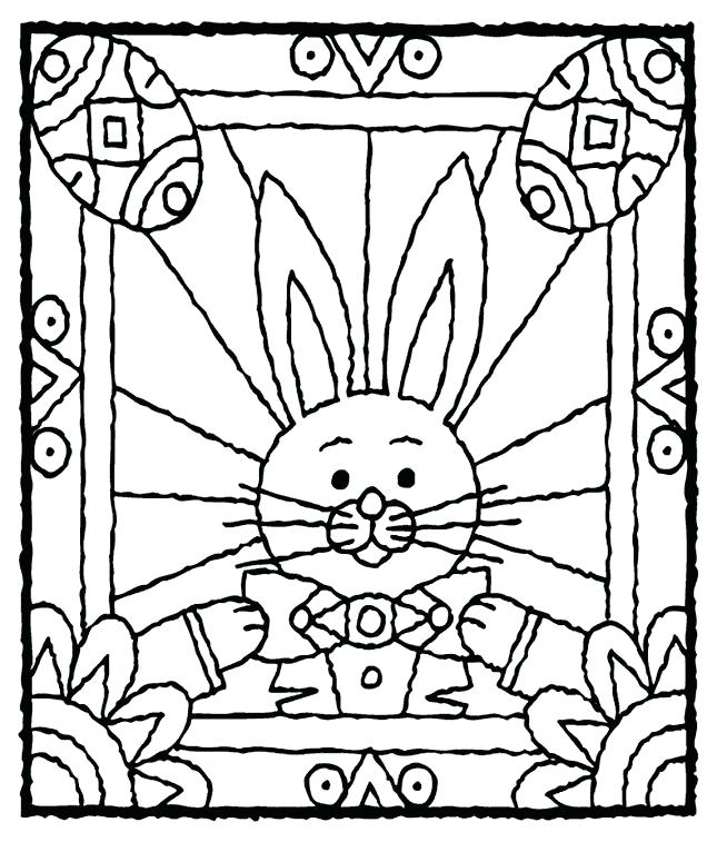 645x757 Stained Glass Window Coloring Cute Coloring Simple Stained Glass