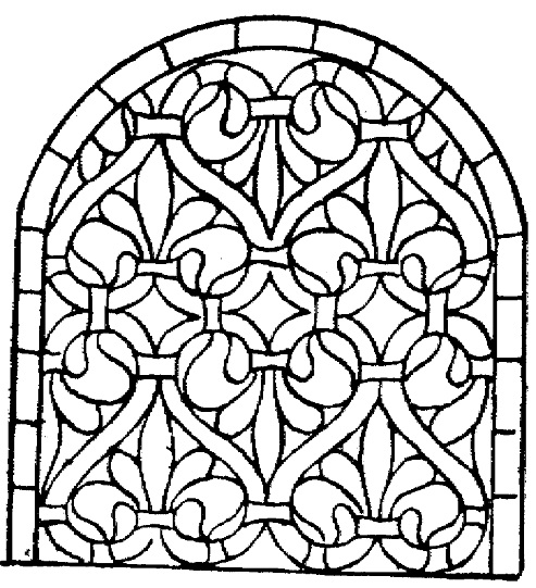 493x541 Stained Glass Window Coloring Page