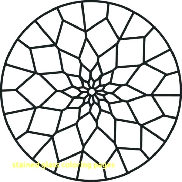 600x600 Stained Glass Window Coloring Page