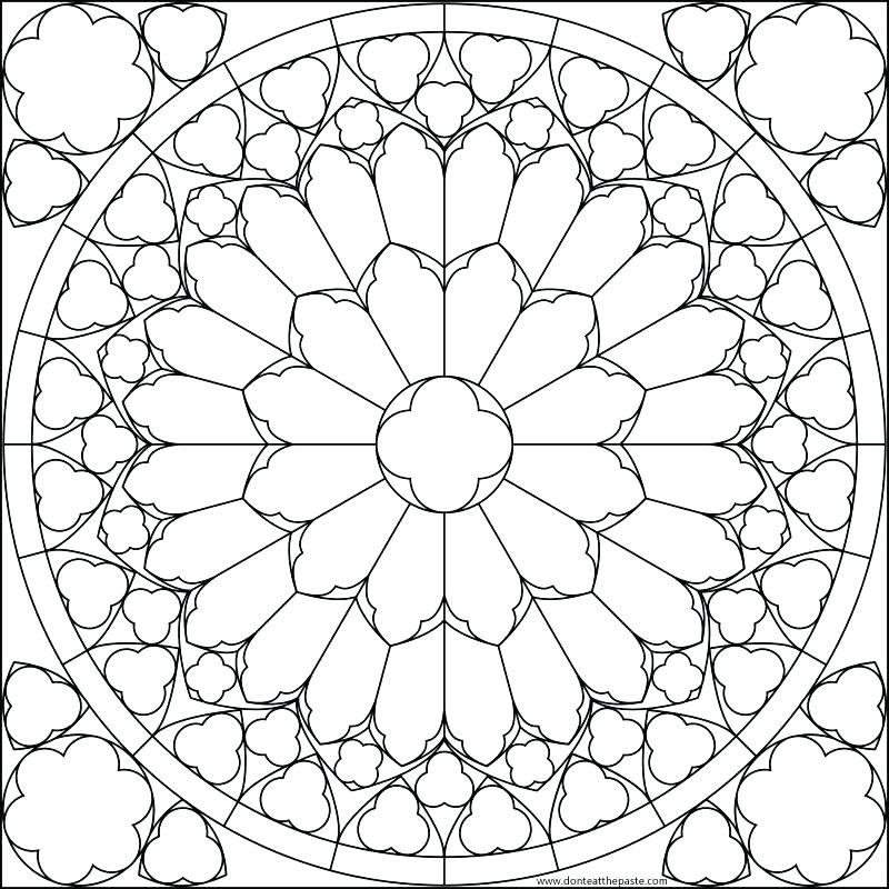 800x800 Stained Glass Window Coloring Pages Christmas Stained Glass Window