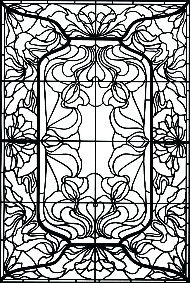 650x968 Stained Glass Window Coloring Pages