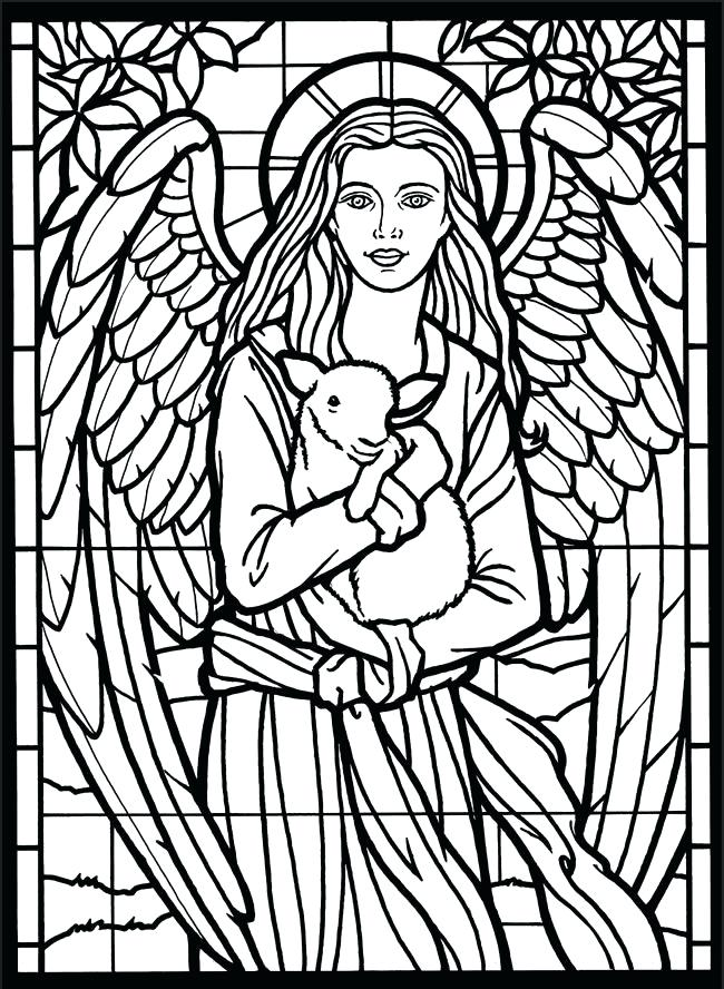 650x888 Beauty And The Beast Stained Glass Window Coloring Page Plus Drawn