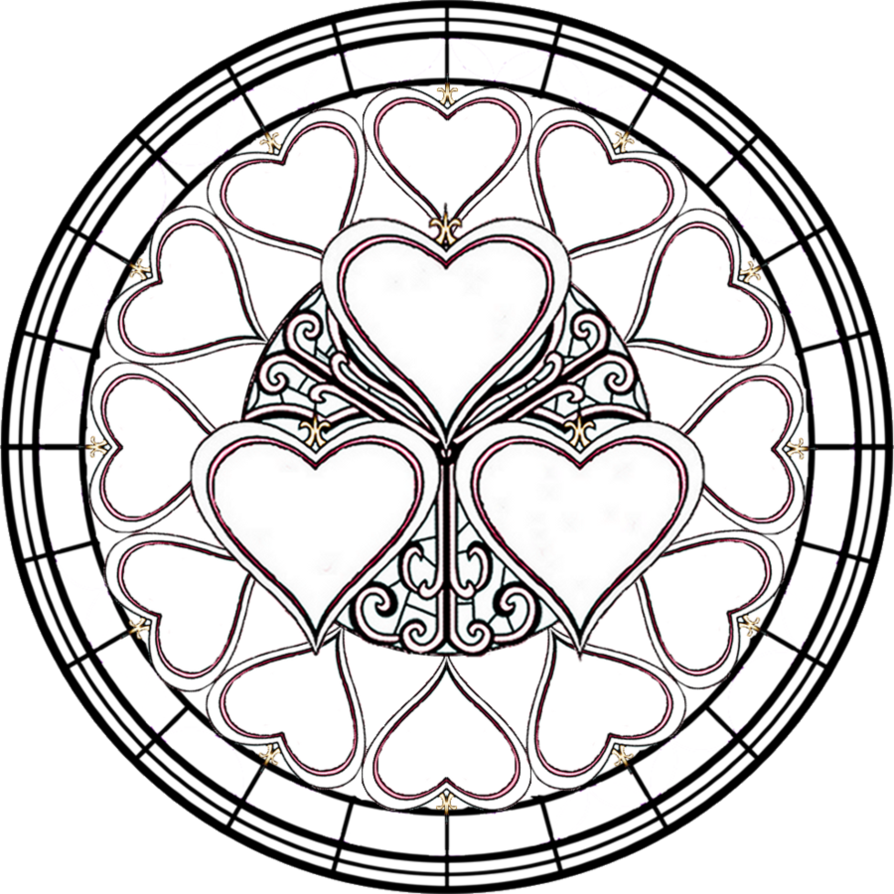 894x894 Stained Glass Coloring Pages