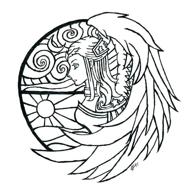 618x633 Window Coloring Page Idea Stained Glass Window Coloring Pages
