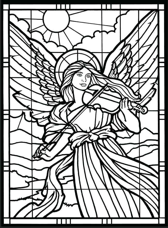 650x882 Christian Stained Glass Windows Coloring Pages