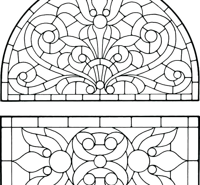 650x600 Stain Glass Coloring Pages