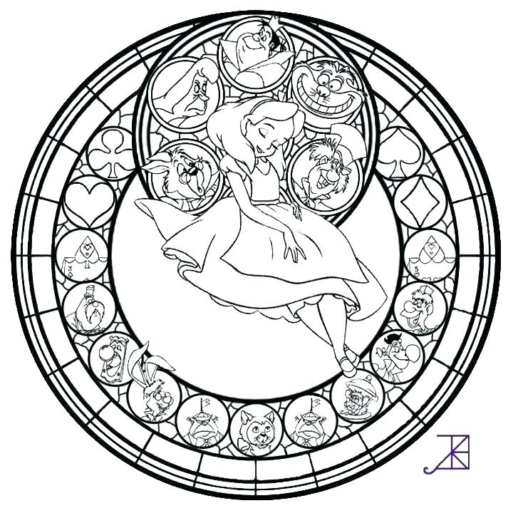 720x720 Stained Glass Window Coloring Pages