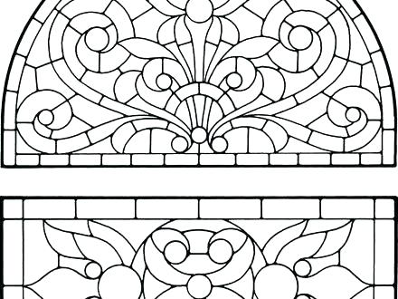 440x330 Church Stained Glass Window Coloring Pages Beauty And The Beast