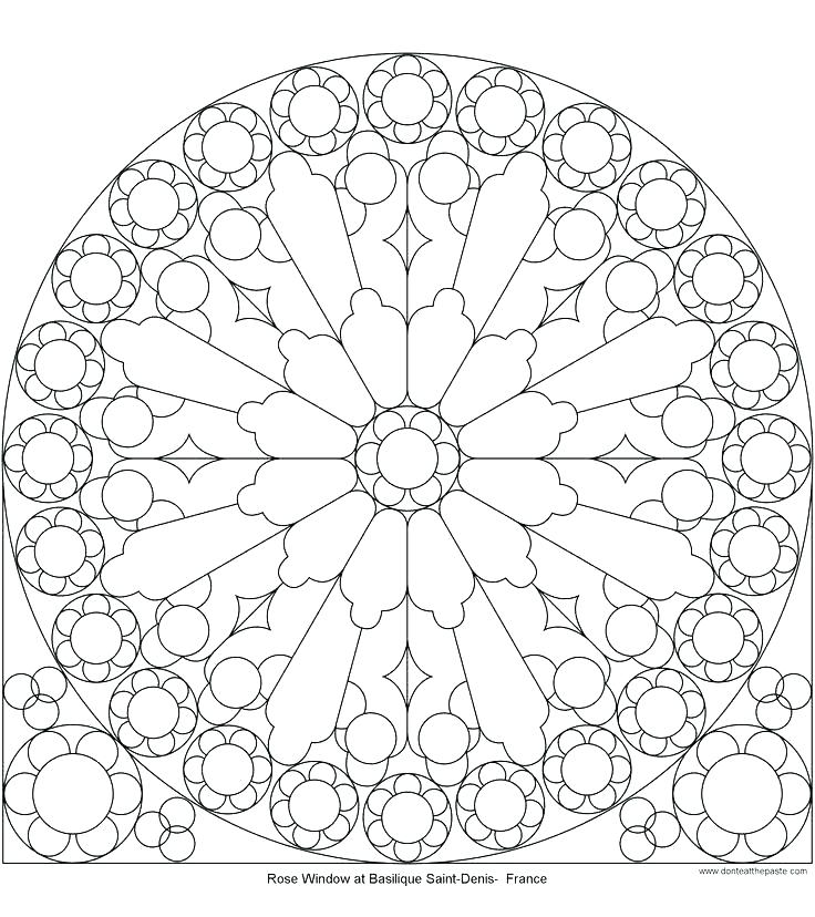 736x828 Glass Coloring Page Glass Coloring Page Window Coloring Page