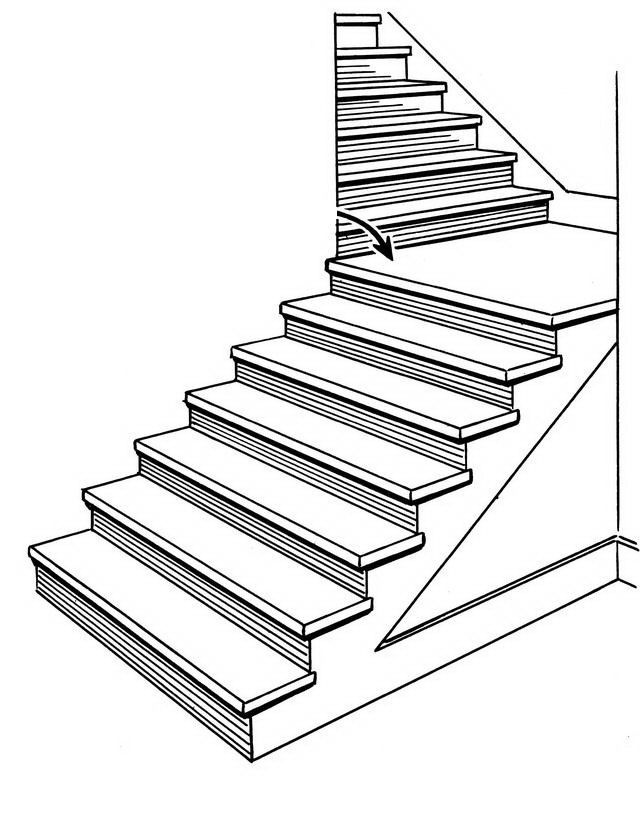 640x830 Stairs Coloring Page Deck Railing Stairs