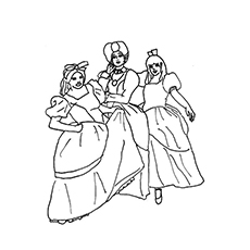 230x230 Top Free Printable Cinderella Coloring Pages Online
