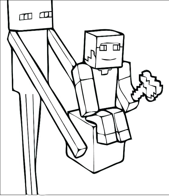 560x650 Minecraft Herobrine Coloring Pages