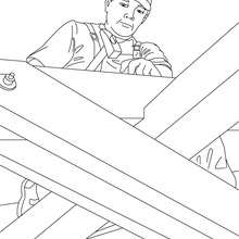 220x220 Carpenter On Wood Stairs Coloring Pages