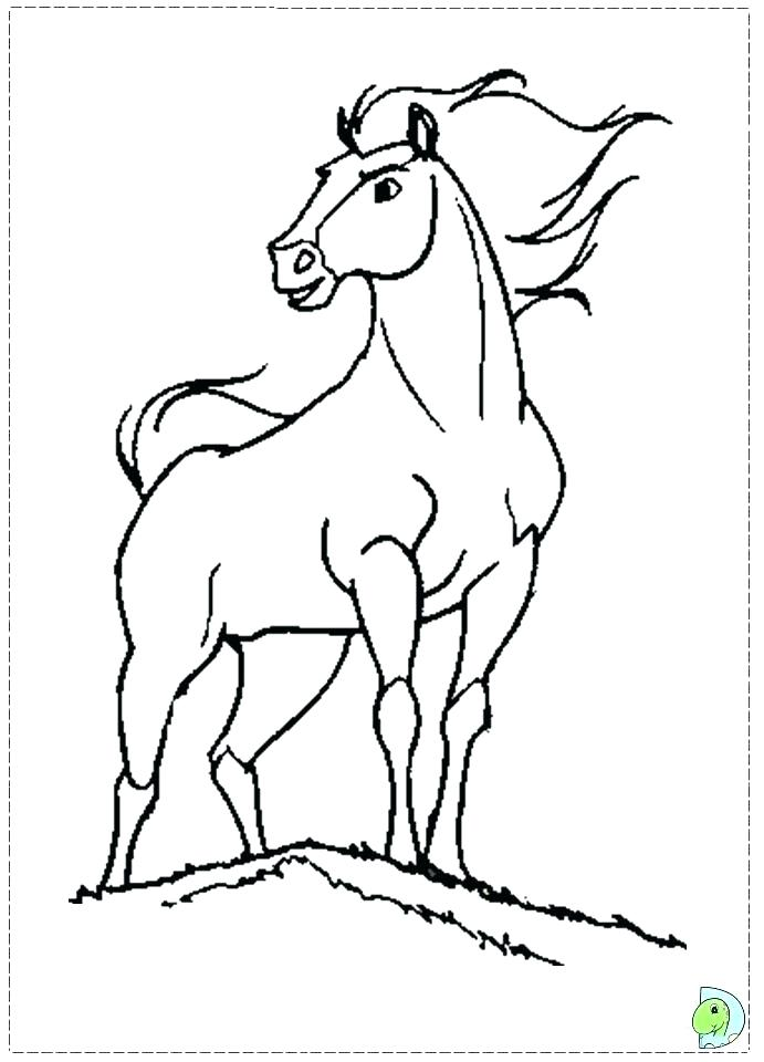691x960 Great Spirit Stallion Of The Cimarron Coloring Pages
