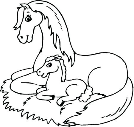 450x426 Horse Coloring Pages