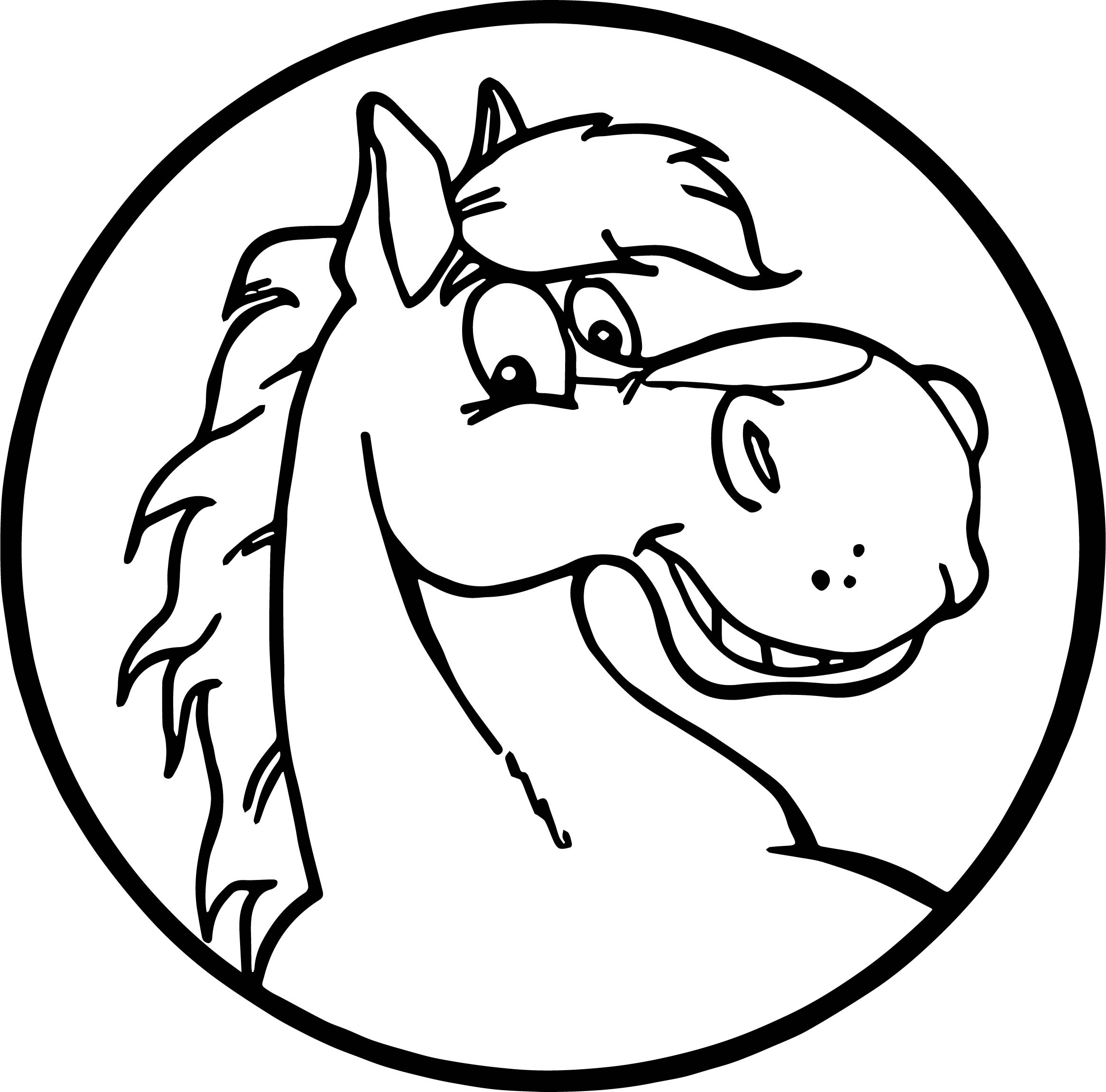 2331x2302 Proud Stallion Cartoon Horse Coloring Page Wecoloringpage