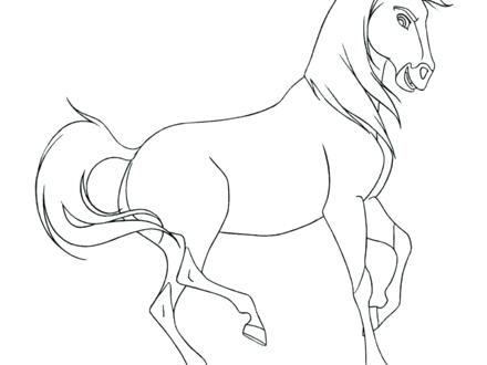 440x330 Spirit Horse Coloring Pages