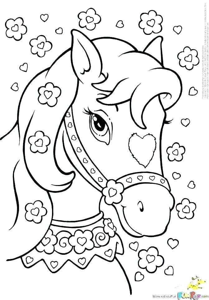 671x963 Coloring Pages Of Horses And Ponies Horse Coloring Pages Barbie
