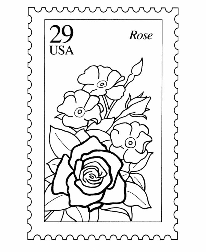 Stamp Coloring Page