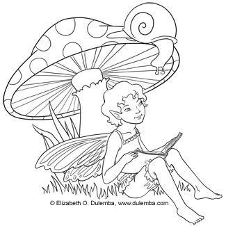 325x325 Freebie Fairy Digi Stamp Coloring Fairy, Digi