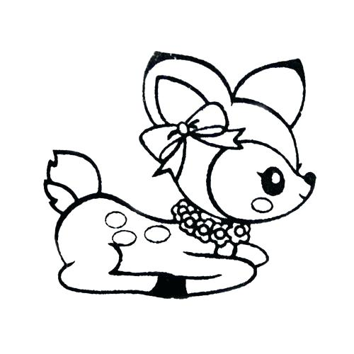 500x500 Baby Deer Coloring Pages Baby Deer Coloring Pages Cute Deer Stamp