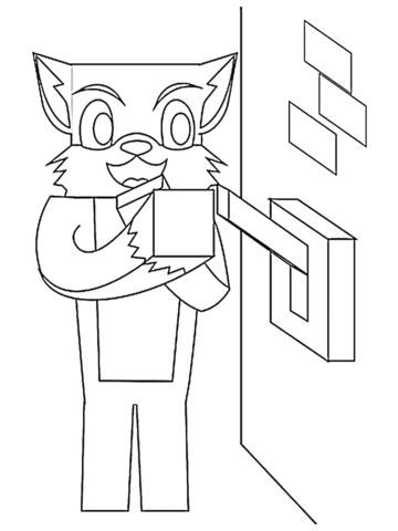 Stampy Coloring Pages