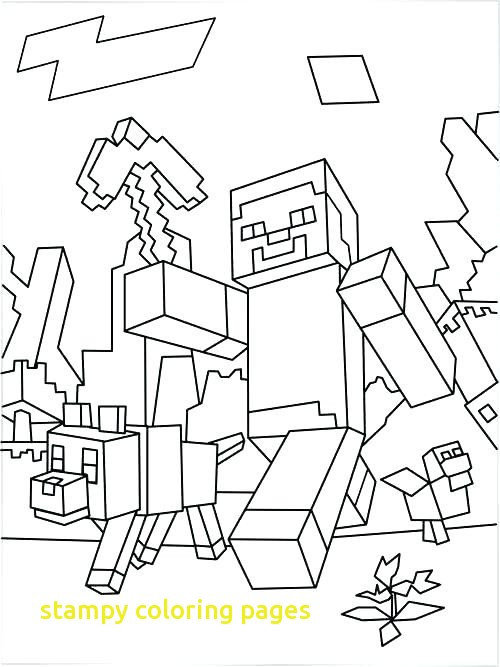 500x667 Stampy Coloring Pages