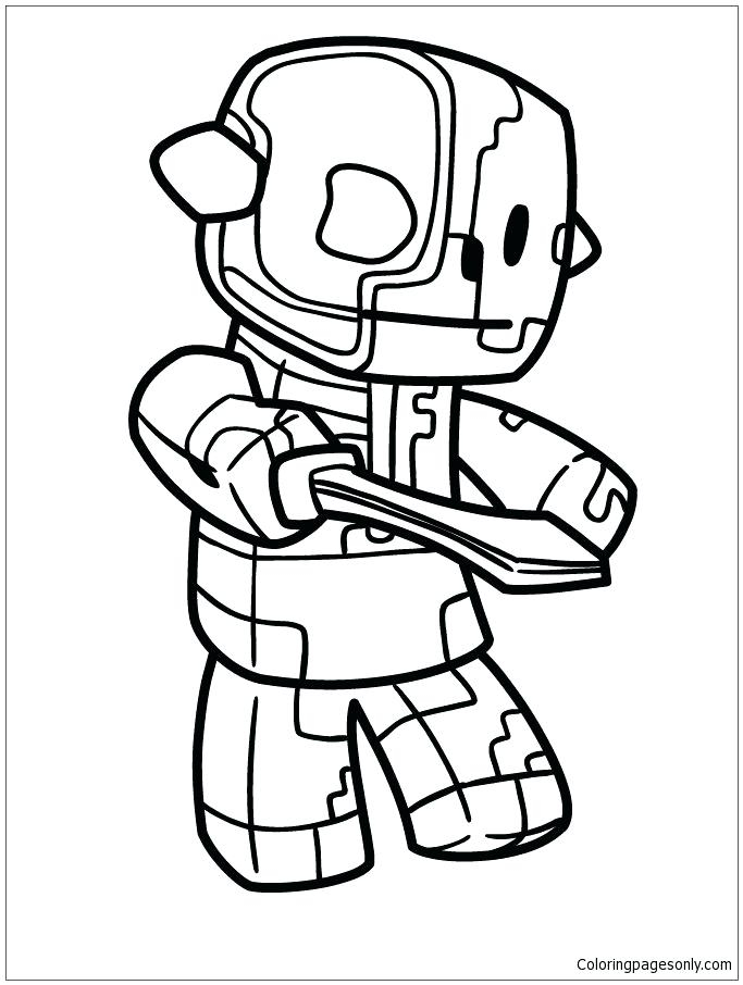 683x906 Stampy Coloring Pages Minecraft Coloring Pages Free Printable
