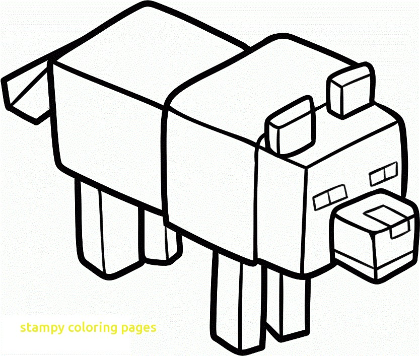 834x707 Stampy Coloring Pages With Minecraft Coloring Pages Stampy Many