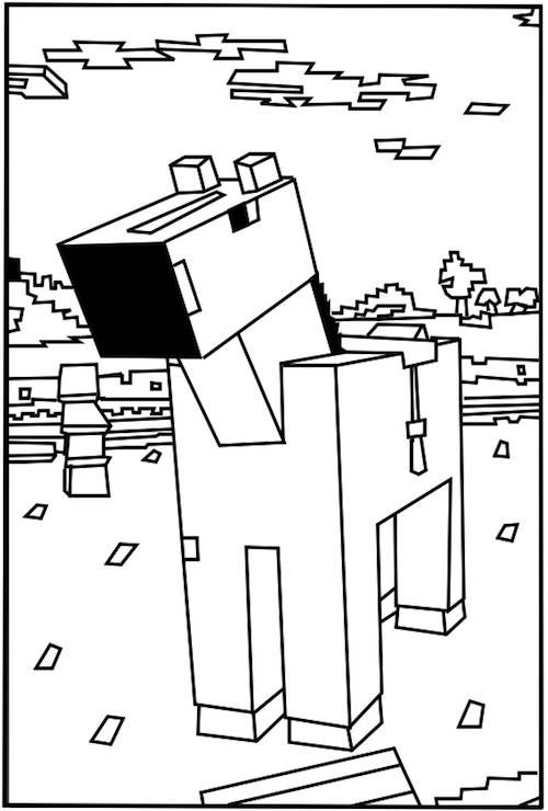 500x740 Best Printable Minecraft Coloring Pages Free Coloring Pages