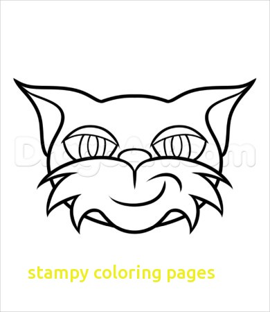 390x450 Stampy Coloring Pages With Stampy Coloring Pages Cat Coloring Page