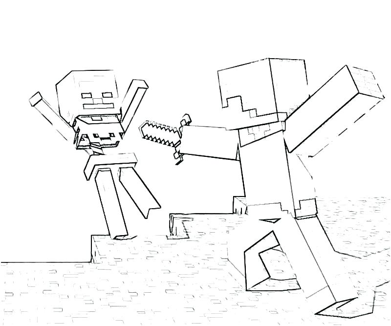800x667 Stampy Coloring Pages