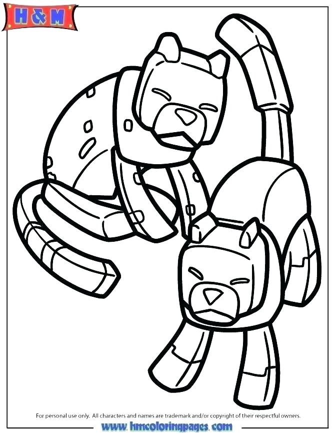670x867 Stampy Coloring Pages