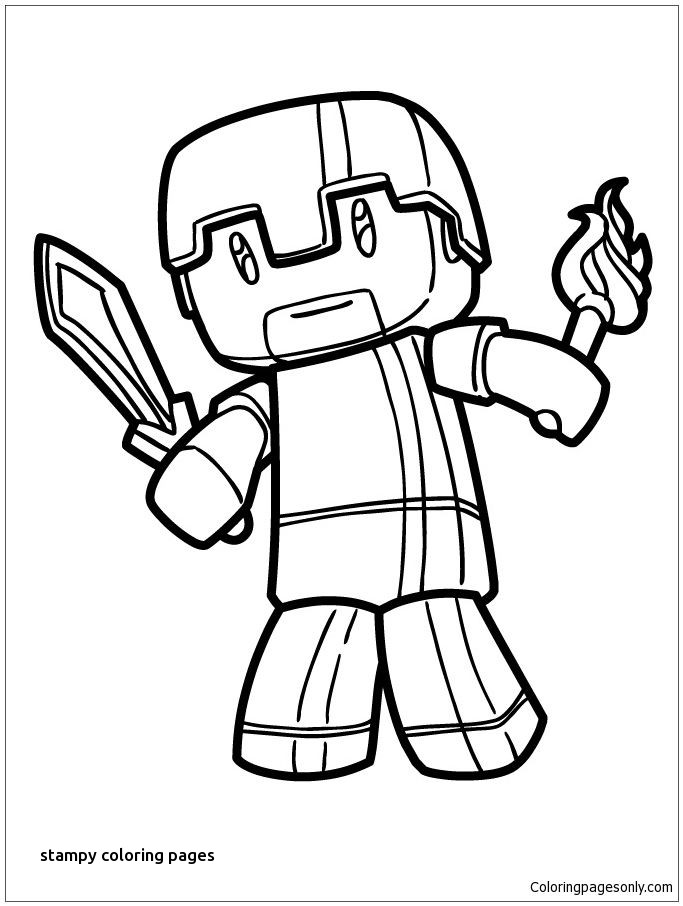 683x906 Stampylongnose Coloring Pages Stampy Coloring Pages Landpaintball