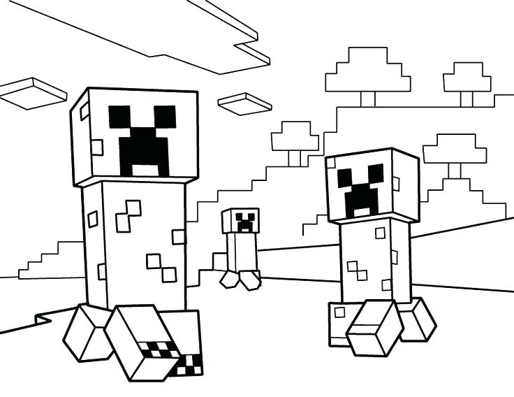 736x568 Coloring Pages For Minecraft A Printable Monster Coloring Page