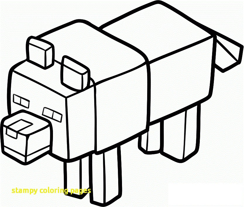 834x707 Stampylongnose Coloring Pages Stampy Coloring Pages With Minecraft