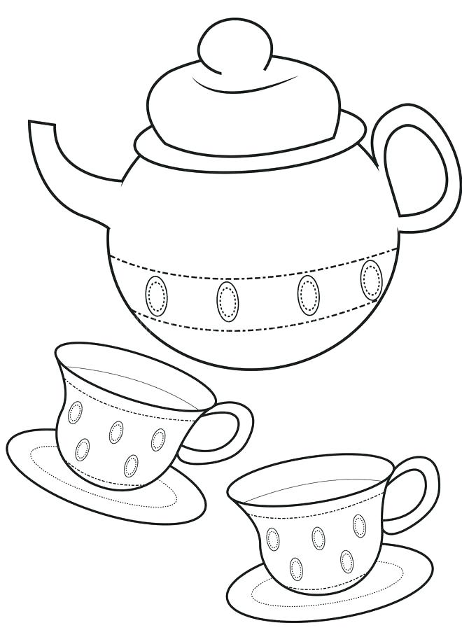 660x900 Cup Coloring Pages Tea Cup Coloring Page Download Teacup Stock