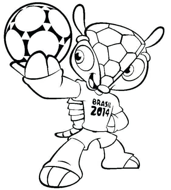 563x624 Cup Coloring Pages World Cup Mascot Free Printable World Cup