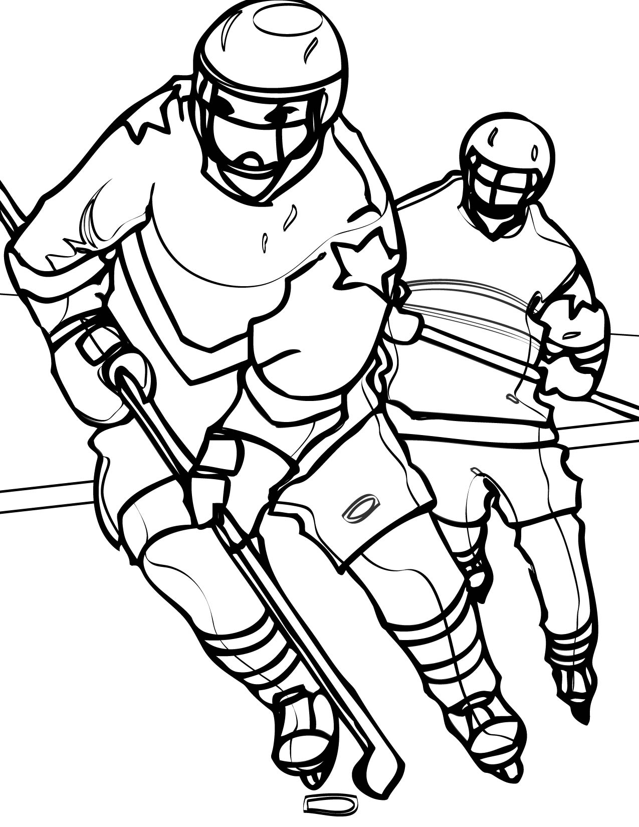 1275x1650 Hockey Coloring Page