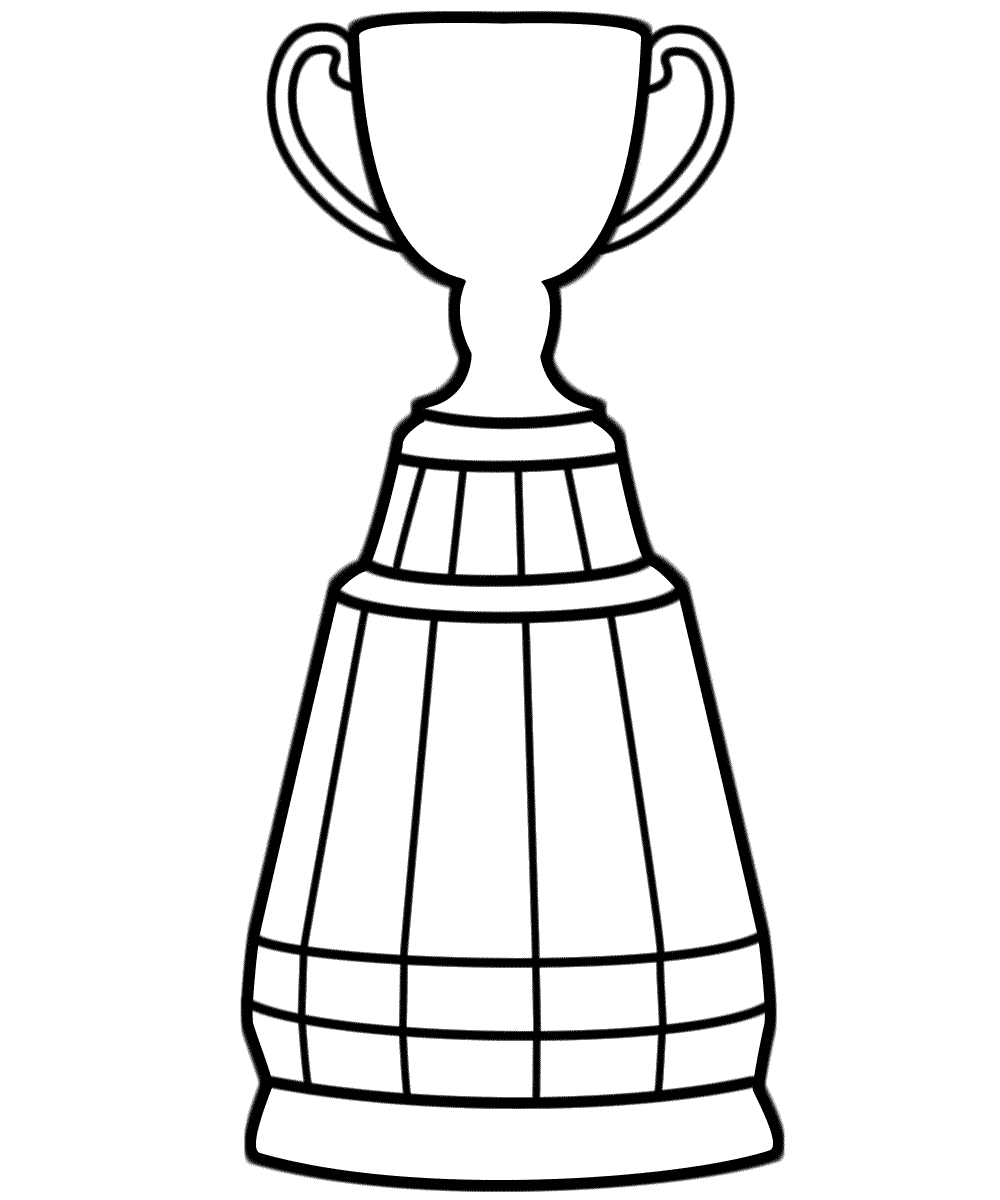 1000x1200 Trophy Coloring Page