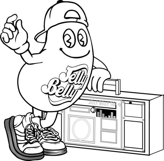 650x641 Jelly Belly Coloring Pages Mr Jelly Belly Coloring Pages