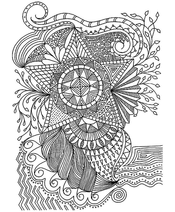 Star Coloring Pages For Adults