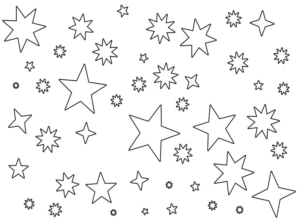 1024x768 Printable Star Coloring Pages Star Coloring Pages Printable