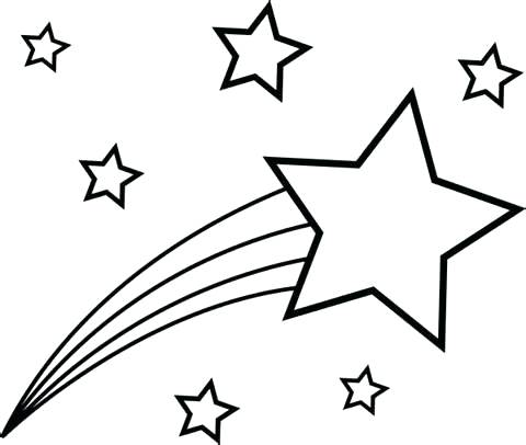 480x406 Shooting Stars Coloring Pages Shooting Stars Coloring Page Picture