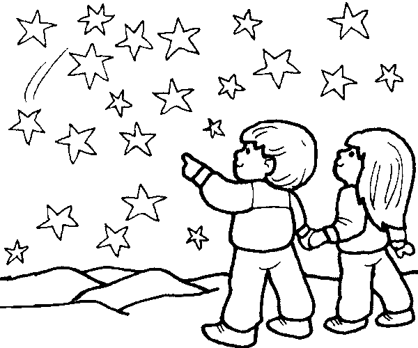 600x500 Star Coloring Pages