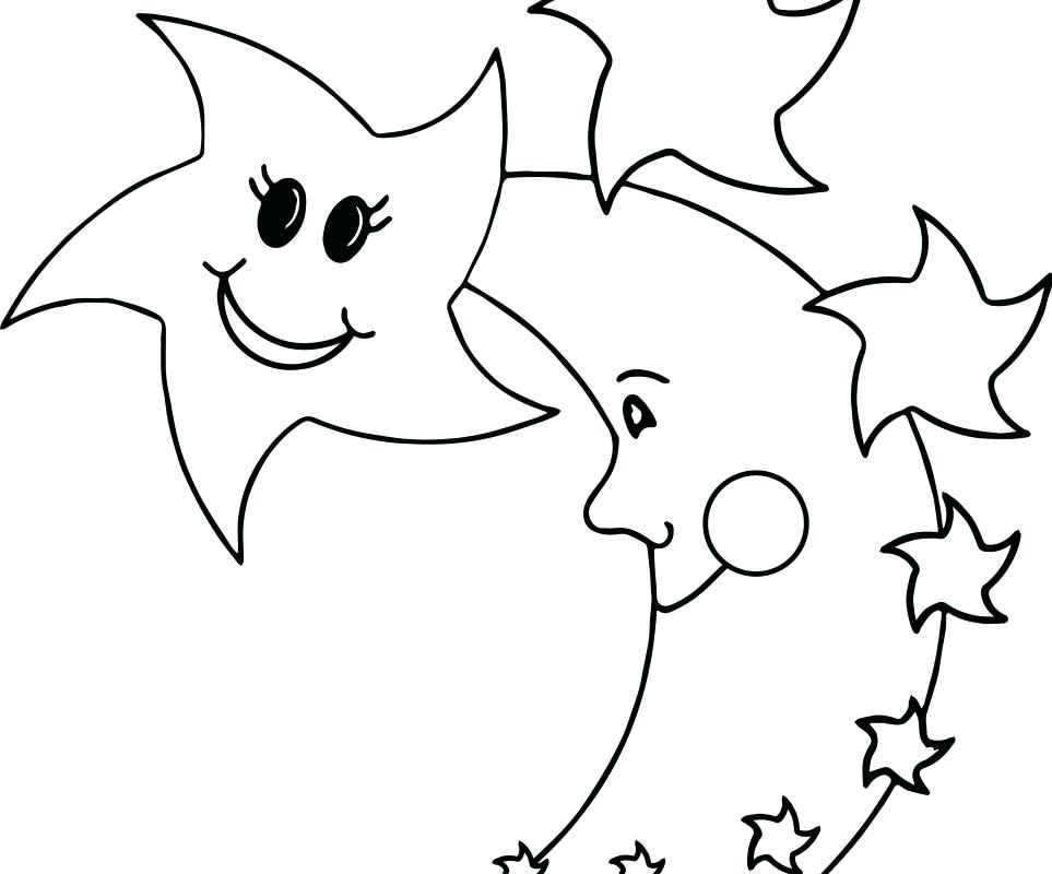963x800 Star Coloring Pages Printable Star Coloring Page Coloring Page