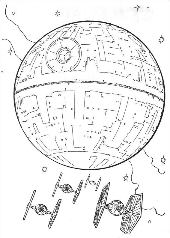 567x794 Death Star Coloring Page Lineart Star Wars Death