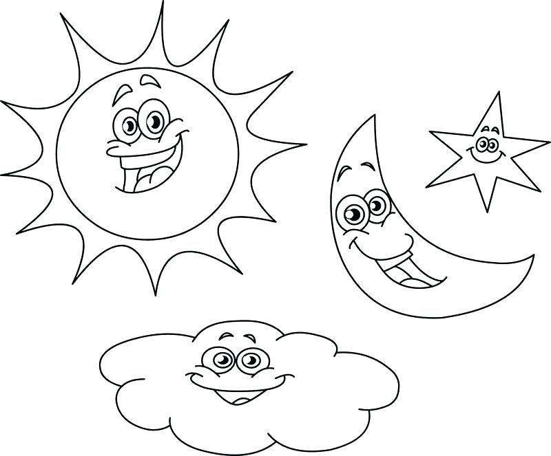 800x663 Excellent Surprising Moon And Stars Coloring Pages Printable New