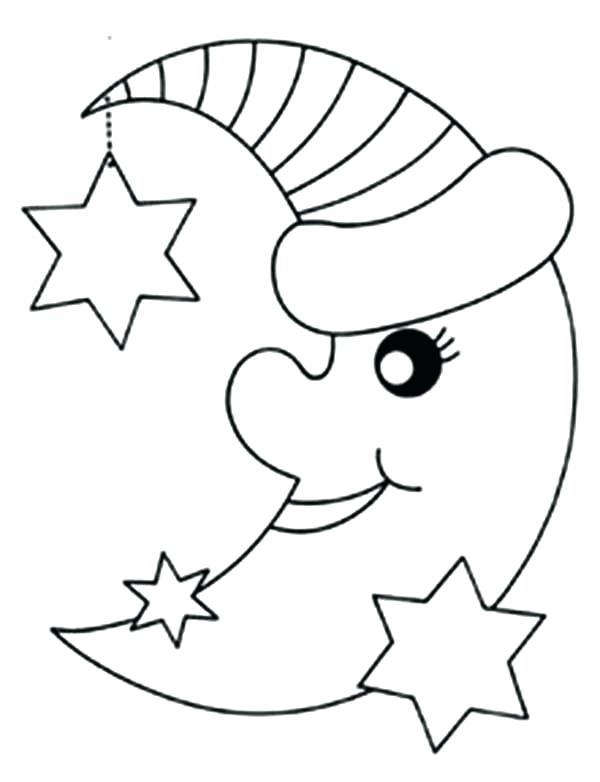 600x782 Moon Coloring Pages For Preschoolers Coloring Pages Of Stars