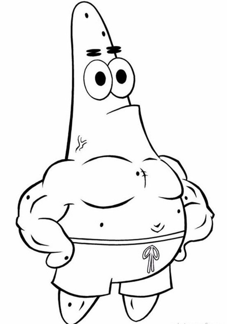 924x1316 Patrick Star Coloring Pages Free